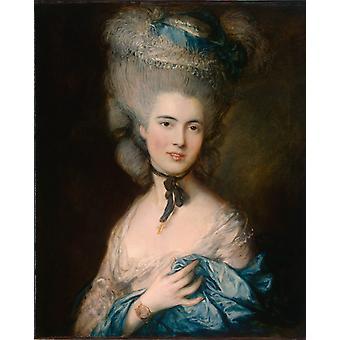 Nainen sininen, Thomas Gainsborough, 76x64cm