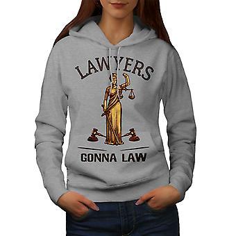 Asianajajat Gona Law Women GreyHoodie | Wellcoda, mitä sinä olet?