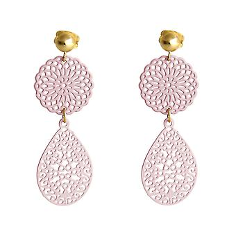 Boucles d'oreilles Gemshine dames yoga mandala goutte 925 argent, or plaqué ou rose