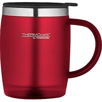 Thermos roșu 450ml ThermoCafe soft touch Desk cana