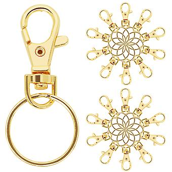 TRIXES 20 X Small Lobster Detachable Swivel Clasps for Key Split Ring
