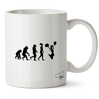 Hippowarehouse Cheerleader Evolution Printed Mug Cup Ceramic 10oz