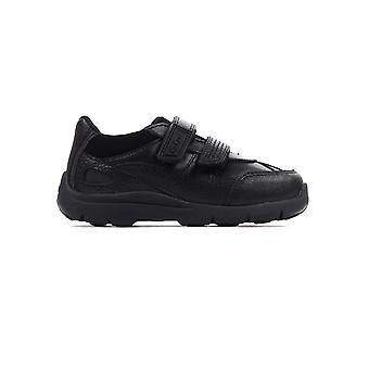Kickers Moakie Reflex Leder Kleinkind Kleinkind Jungen Schule Mode Schuh schwarz