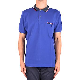 Fay Ezbc035046 Men's Blue Cotton Polo Shirt