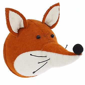 Fiona Walker England Fox Felt Animal Head, Wall Mounted