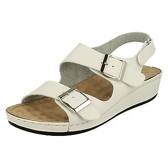 Mesdames jusqu'à terre Casual Buckle Up sandales