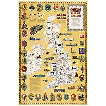 Railway History Map Of Britain 1000 Piece Jigsaw Puzzle 690mm x 480mm (jg)