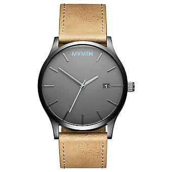 MVMT CLASSIC Gunmetal Sandstone Men's Watch Watch Leather MM01-GML