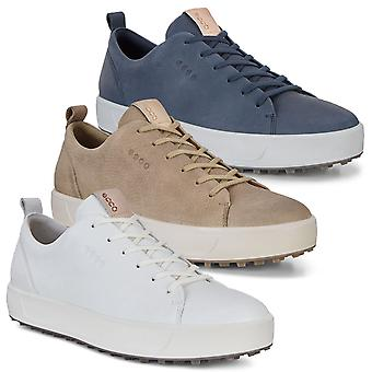 ECCO Mens M Golf Soft HYDROMAX vedenkestävä nahka hybird ulkopohja kengät