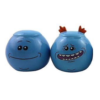 Rick ja Morty Mr. Meeseeks suolaa ja pippuria shaker Set