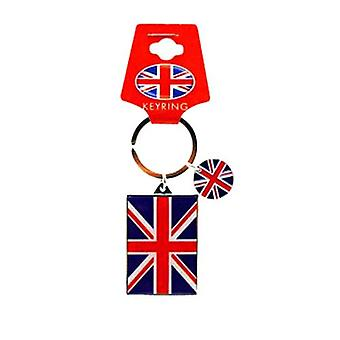 Union Jack with Disc Metal Keyring