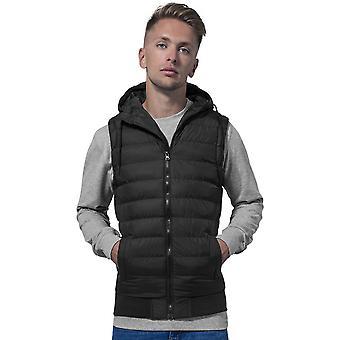 Cotton Addict Mens Hooded Padded Bubble Vest Bodywarmer