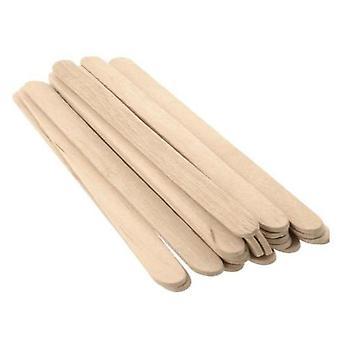 10x popsicle stick houten roerder waxen spatel