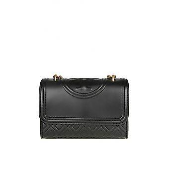 Tory Burch 43834001 Women's Black Leather Shoulder Bag