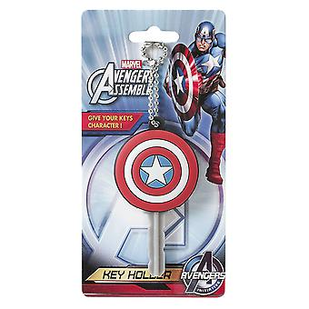 Nøgle Cap-Marvel-soft touch PVC holder Captain America logo 68141