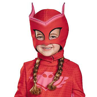 Owlette Deluxe Pjmasks PJ Masks Glow In The Dark Girls Costume Overhead Mask