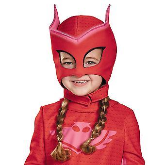 Owlette Deluxe Pjmask PJ măști strălucire în întuneric Girls costum deasupra capului