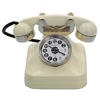 WM Widdop Miniature Novelty Collectors Cream Telephone Desk Clock 9007
