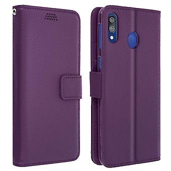 Flip wallet case, slim cover Samsung Galaxy M20, silicone shell - Purple