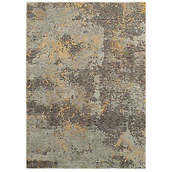 Evolution 8025b grey/ gold indoor area rug rectangle 5'3