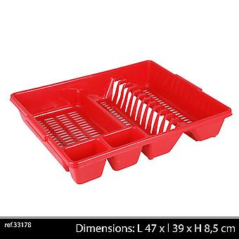 Large Red Dish Rack without Tray strong 38x46xH9cm