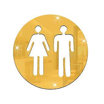 Sticker decalcodopola Toa Toilet urgente Uomo e donna oro