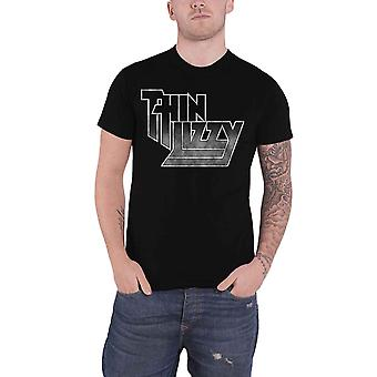 Thin Lizzy T Shirt Band Logo Gradient Phil Lynott new Official Mens Black