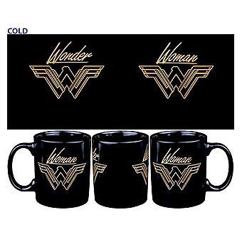 Wonder Woman Movie On Mountain Top Heat Change Coffee Mug
