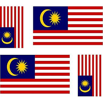 4 X Sticker Sticker Sticker Car Motorcycle Valise Pc Portable Flag Malaysia Malaisi