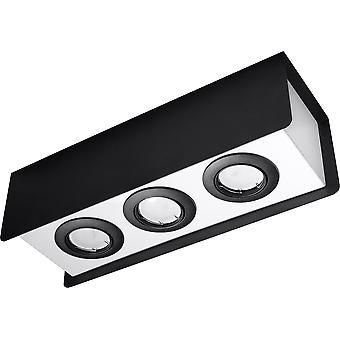 Sollux STEREO 3 Light Ceiling Black, White SL.0411