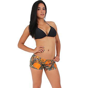 Auténticos Pantalones Cortos Naranjas de Madera Verdadera