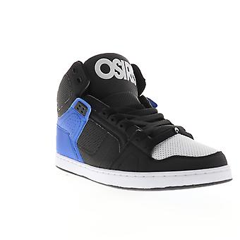 Osiris NYC 83 CLK  Mens Black Leather High Top Skate Sneakers Shoes