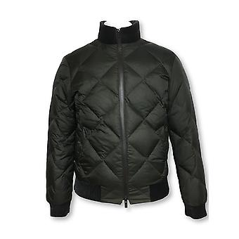 Armani Collezioni quilted bomber jacket in brown/khaki