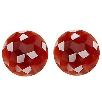 Gemshine stud earrings carnelian fully faceted 925 silver or gold plated