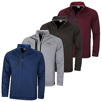 Puma Golf Mens Envoy 1/4 Zip DryCELL Stretch Heather Pullover