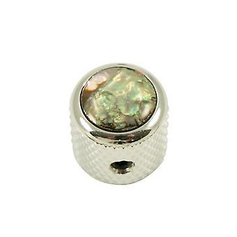 Q Parts Mini - Dome Knob - Abalone Shell Cap - Natural / Chrome Base