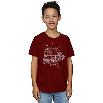 Star Wars Boys Death Star Sleigh T-Shirt
