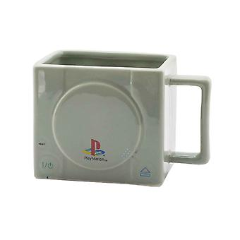 Playstation Mug 3D Console new Official Gamer Grey Boxed Novelty