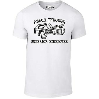 Mannen ' s vrede door superieure vuurkracht t-shirt