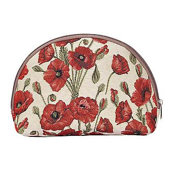 Poppy women's cosmetic bag by signare tapestry / bgcos-pop