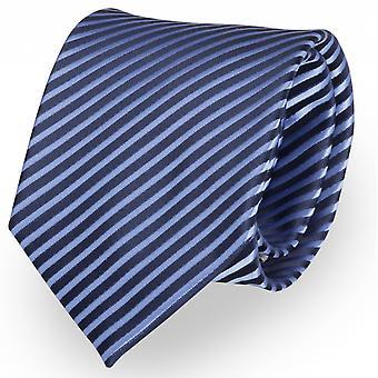 Schlips Krawatte Krawatten Binder 8cm blau gestreift - Fabio Farini