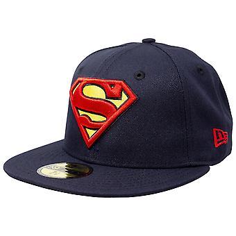 Superman Classic Symbol auf Marine neue Ära 59Fifty montiert Hut