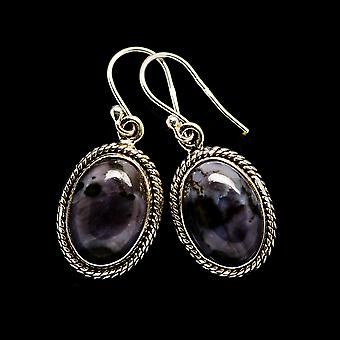"Gabbro Earrings 1 1/4"" (925 Sterling Silver)  - Handmade Boho Vintage Jewelry EARR394068"