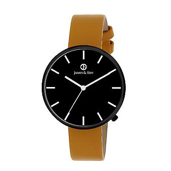 James And his JAS10041 906 - watch Leather Brown man