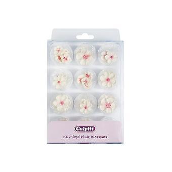 Culpitt Mixed Pink Blossoms 36 Piece - Single