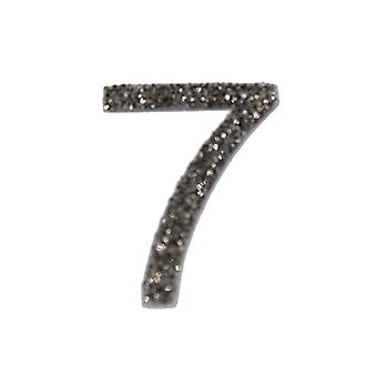 Gunmetal Glitter Number Sticker - Number 7