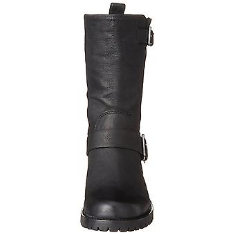 Cole Haan Womens Hemlock Leather Round Toe Mid-Calf Motorcycle Boots