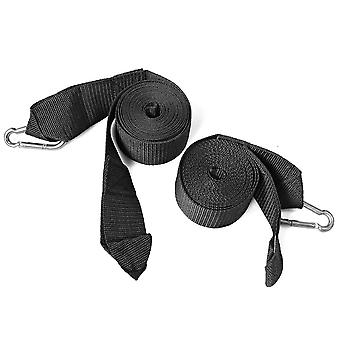 1 Pair of Suspension Belts - Fixing Set for Hanging Mats Made of Nylon with 2 Locking Carabiner Hooks - Max Load Capacity 400kg Adjustable
