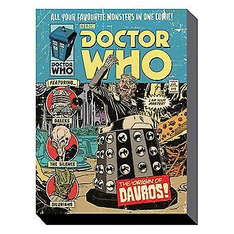 Doctor who - origin of davros 60cm x 80cm wall art canvas