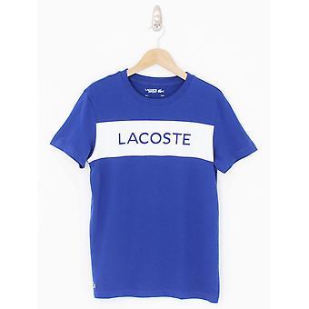Lacoste Sport Mesh Print Logo T.Shirt - Cosmic
